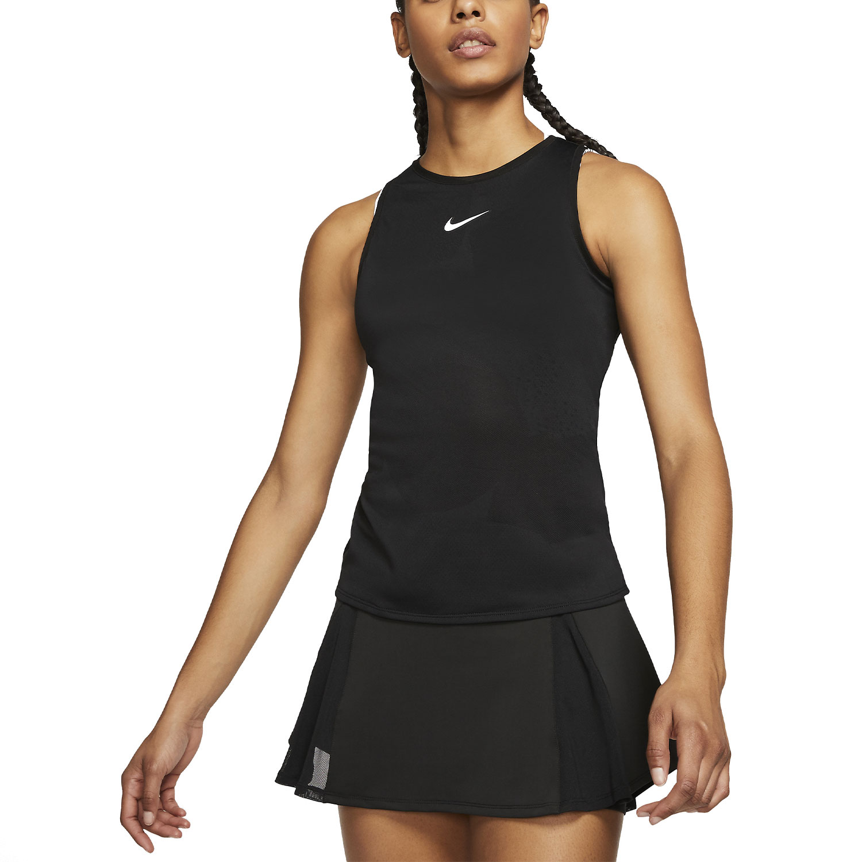 Nike Court Dry Tank - Black/White