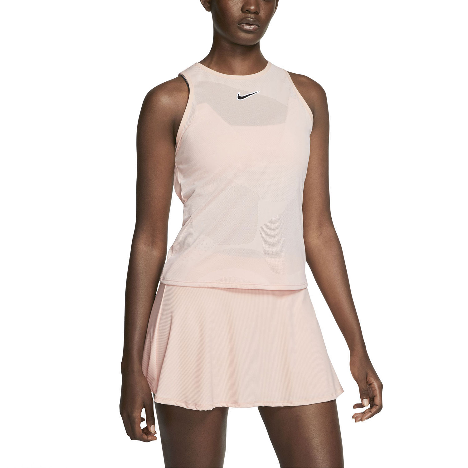 Nike Court Dry Tank - Washed Coral/Off Noir