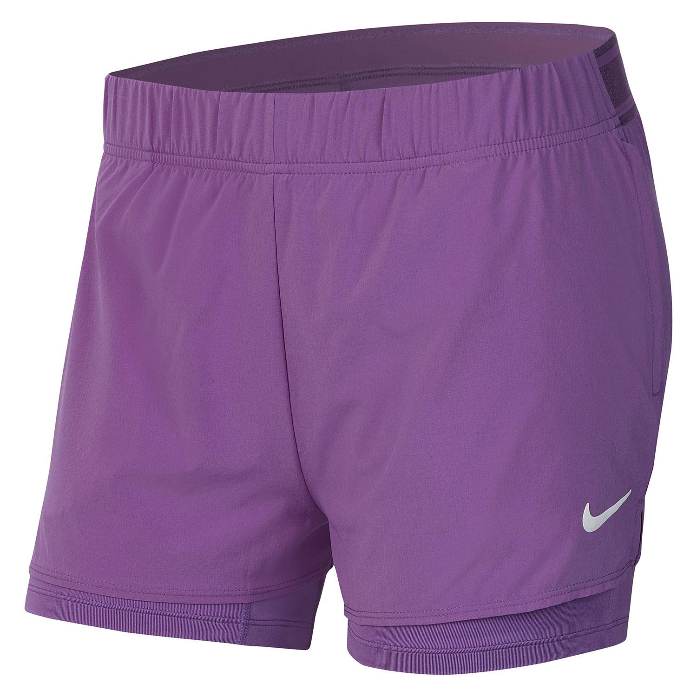 Nike Court Flex 2in Shorts - Purple Nebula/White