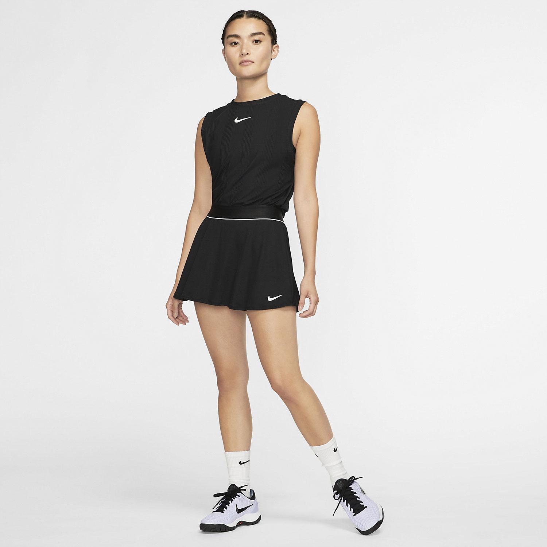 Nike Court Flouncy Falda - Black/White