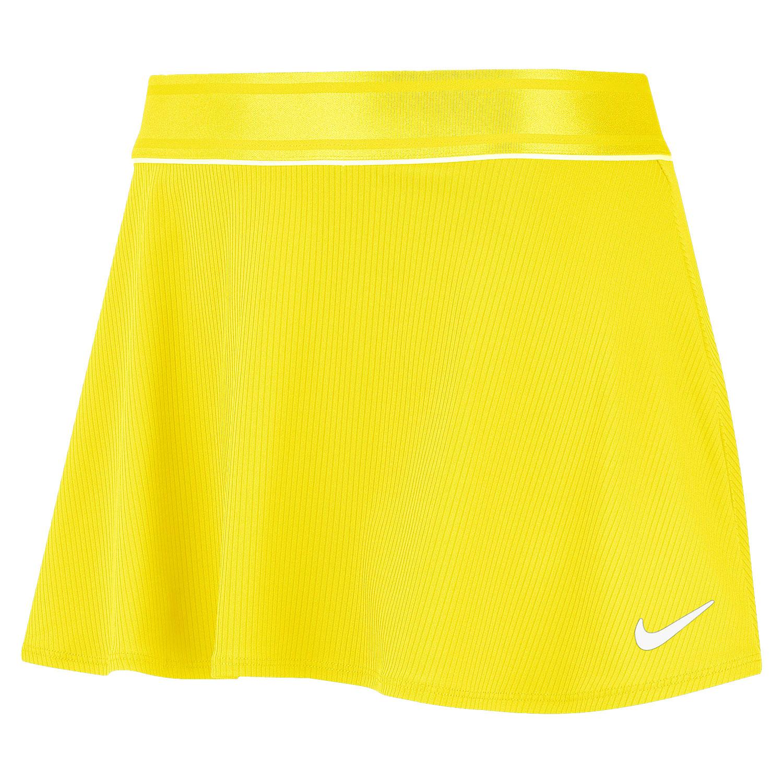 Nike Court Flouncy Skirt - Opti Yellow/White