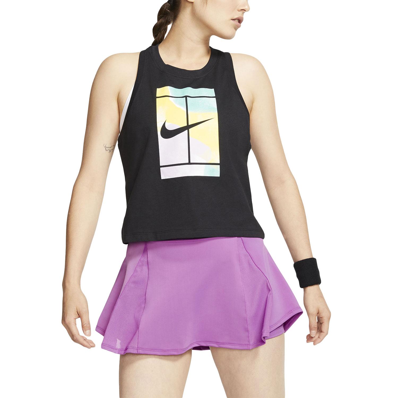 Nike Court Print Tank - Black