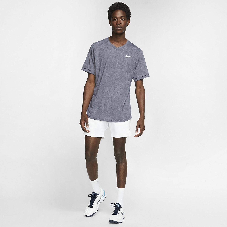 Nike Dri-FIT Challenger T-Shirt - Gridiron/White