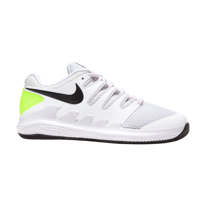 sirena Negligencia guión  Nike Vapor X Zapatillas de Tenis Niños - White/Black/Volt