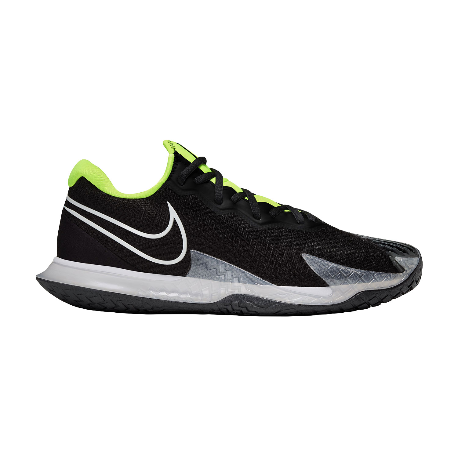 Nike Air Zoom Vapor Cage 4 HC - Black/White/Volt/Dark Smoke Grey