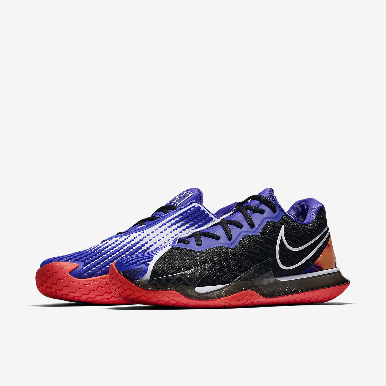 Nike Air Zoom Vapor Cage 4 HC - Black/White/Laser Crimson/Persian Violet