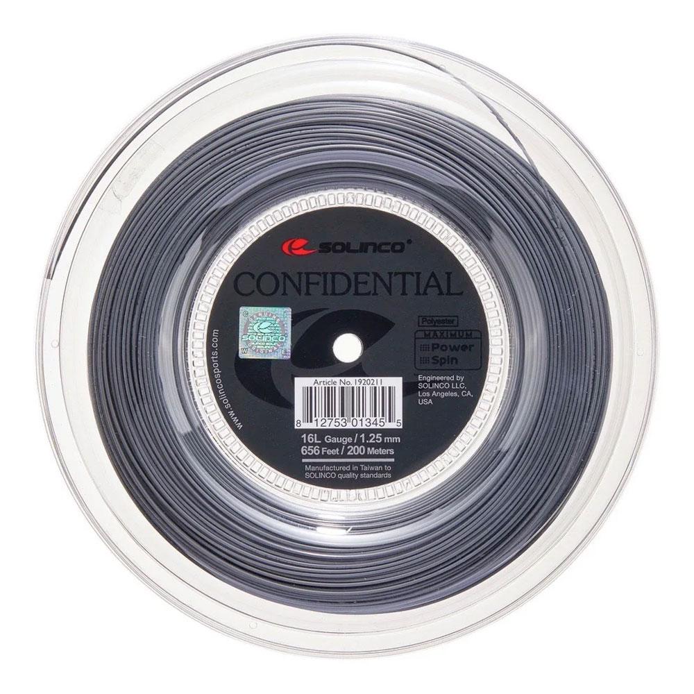 Solinco Confidential 1.25 Matassa 200 m - Grey