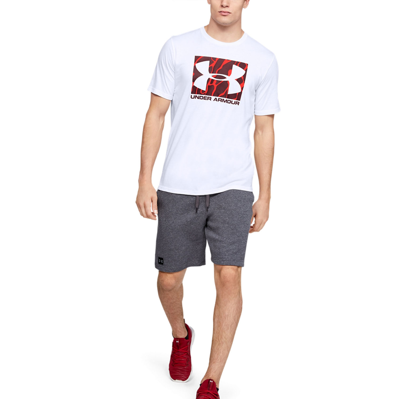 El respeto Médico Noticias de última hora  Under Armour Camo Boxed Logo Men's Tennis T-Shirt - White