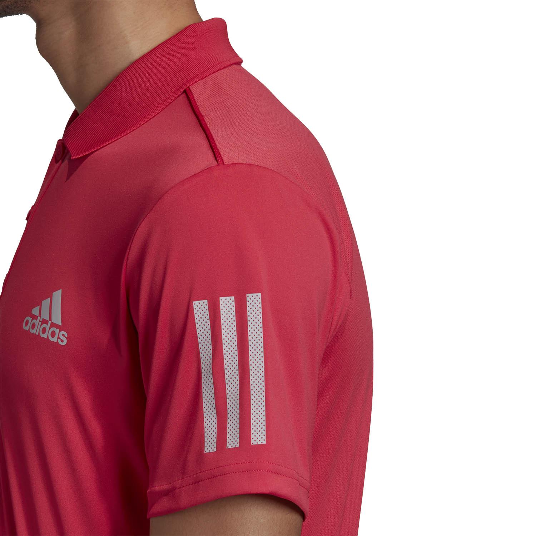 Adidas Club 3 Stripes Polo - Power Pink