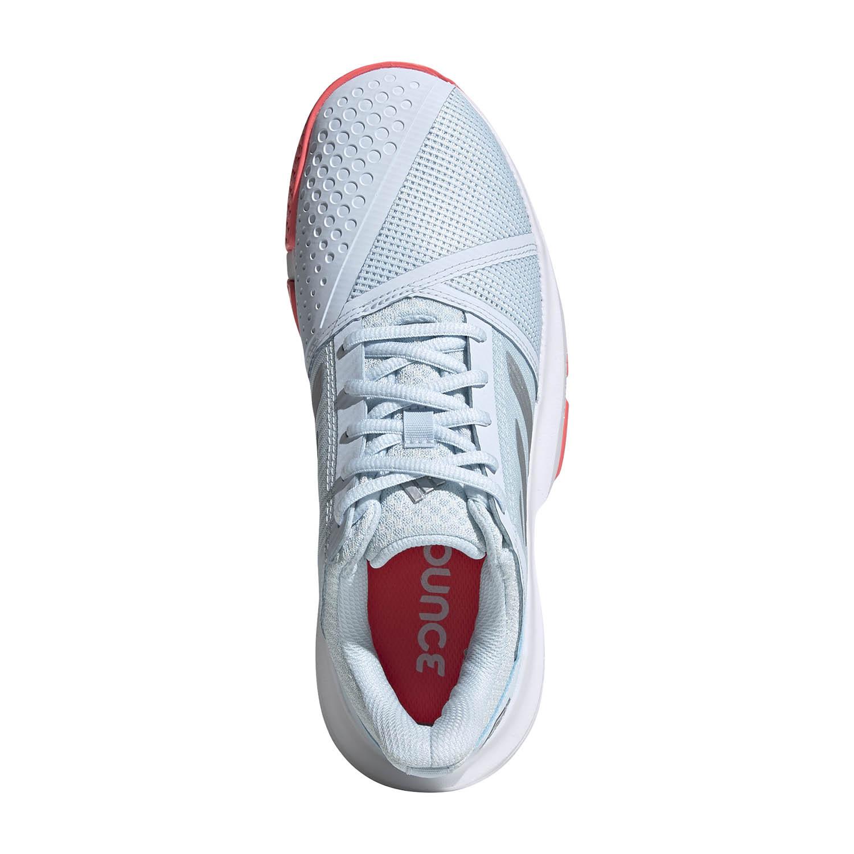 Adidas CourtJam Bounce - Sky Tint/Silver Met/Signal Pink