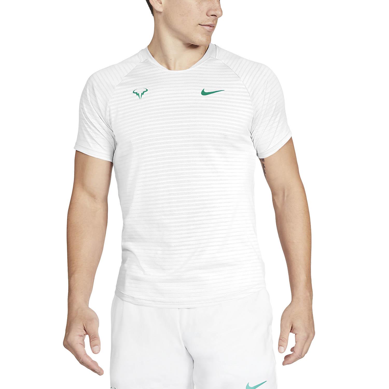 Nike Aeroreact Rafa Slam T-Shirt - White/Lucid Green