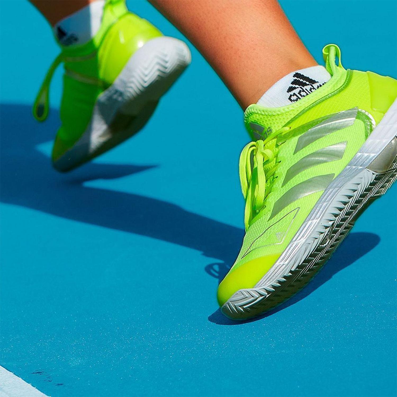 adidas Adizero Ubersonic 4 - Solar Yellow/Silver Metallic/Halo Blue