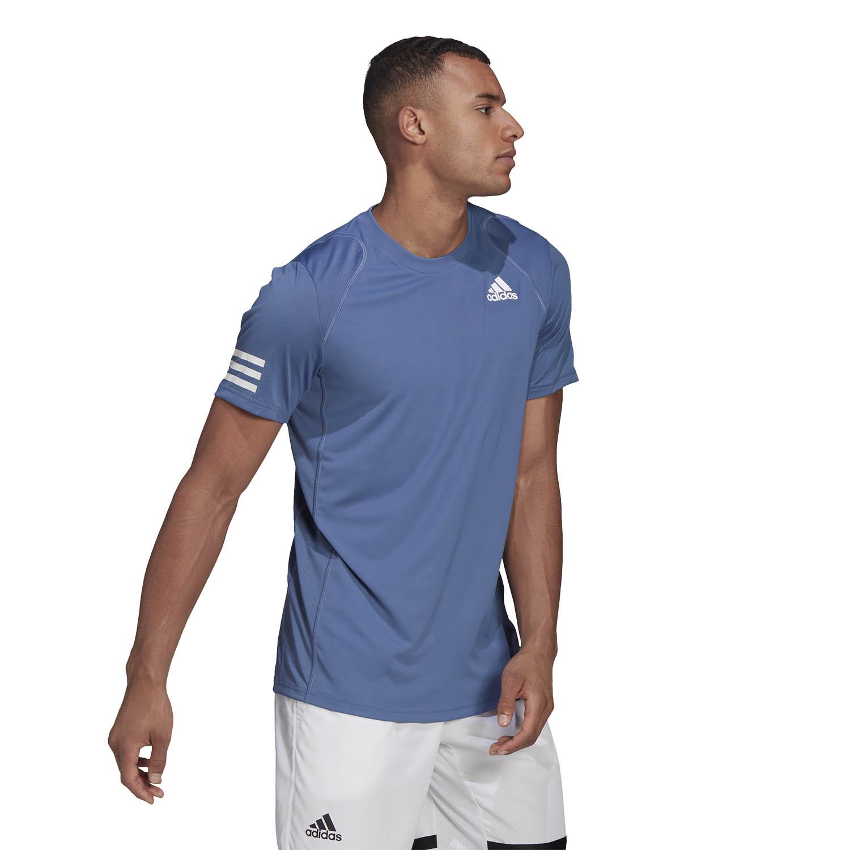 adidas Club 3-Stripe T-Shirt - Crew Blue/White