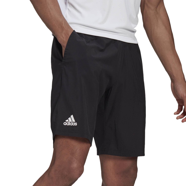 adidas Club Stretch Woven 7in Shorts - Black/White