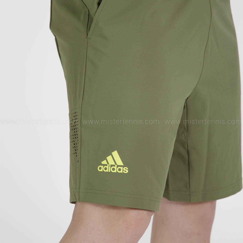adidas Ergo Primeblue 9in Shorts - Wild Pine/Acid Yellow