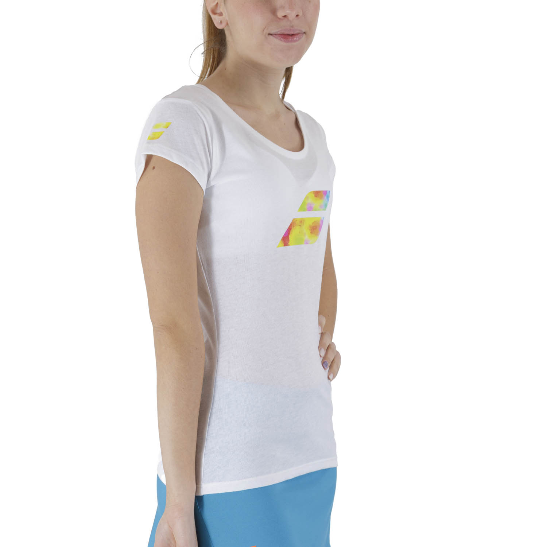 Babolat Exercise Big Flag T-Shirt - White