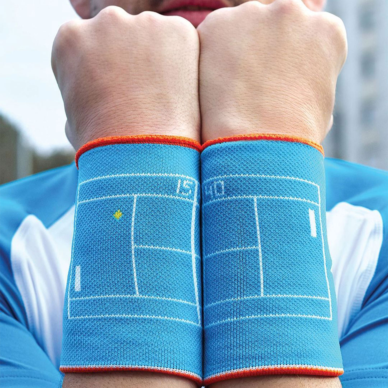 Babolat Reversible Jumbo Wristbands - Caneel Bay/Vibrant Orange