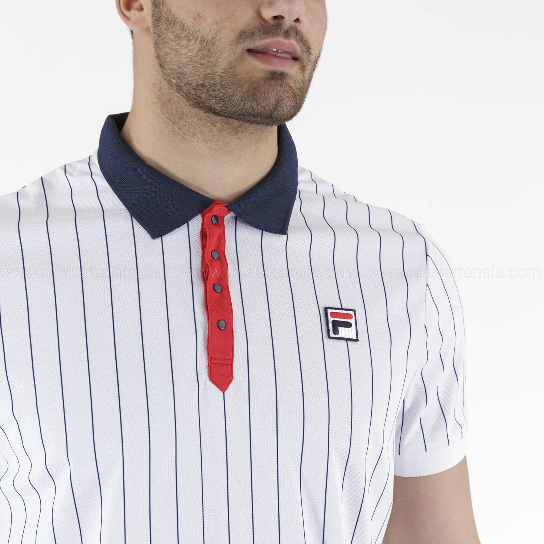 Fila Stripes Polo - White Stripes