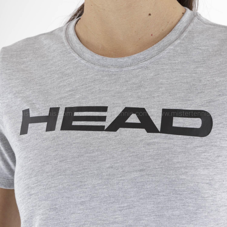 Head Club Lucy T-Shirt - Grey Melange/Black
