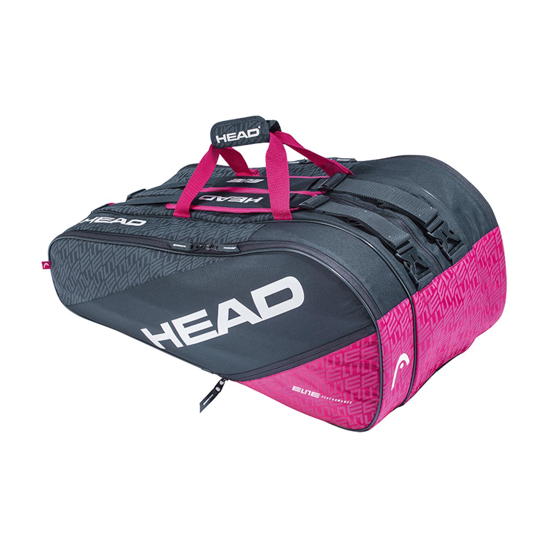 Head Elite x 12 Monstercombi Bag - Anthracite/Pink