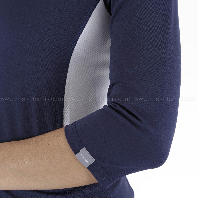 Head Club Tech 3/4 Shirt - Dark Blue