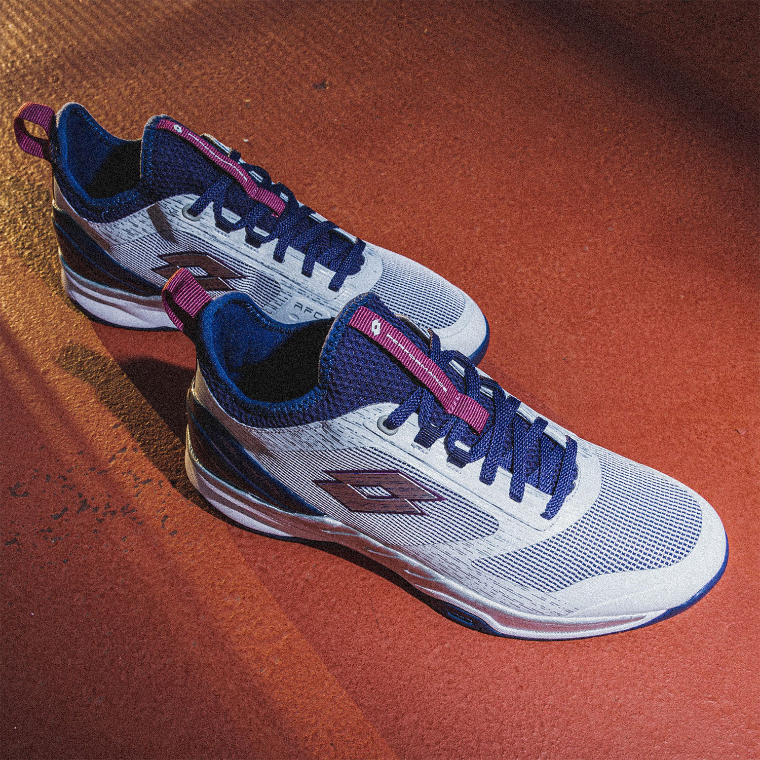 Lotto Mirage 200 Speed - All White/Navy Blue/Muave Wine
