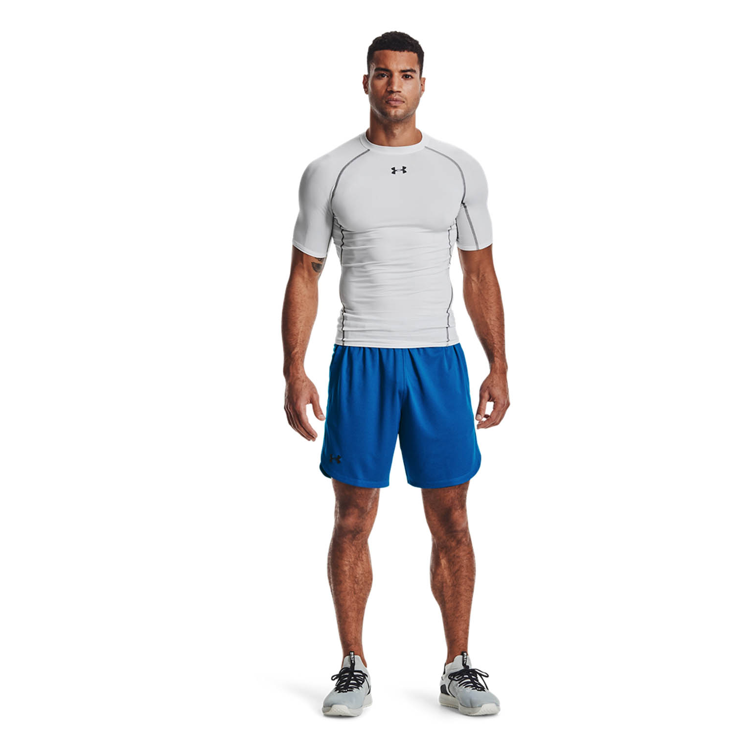Under Armour Knit Training 9in Shorts - Blue Circuit/Black
