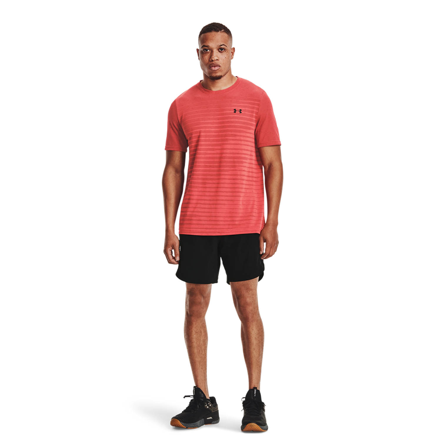 Under Armour Seamless Fade T-Shirt - Venom Red/Black
