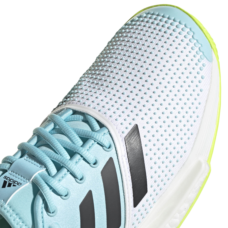 Adidas SoleCourt Primeblue - Ftwr White/Core Black/Solar Yellow
