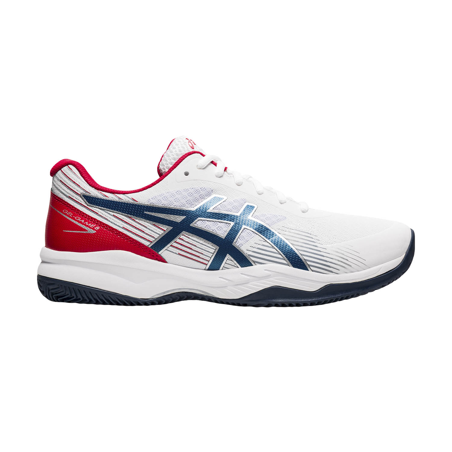 Asics Gel Game 8 Clay/OC - White/Mako Blue