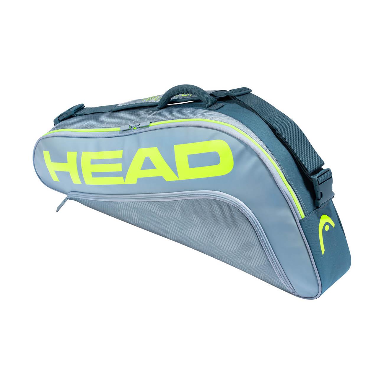 Head Tour Team Extreme 2020 x 3 Pro Bag - Grey/Neon Yellow