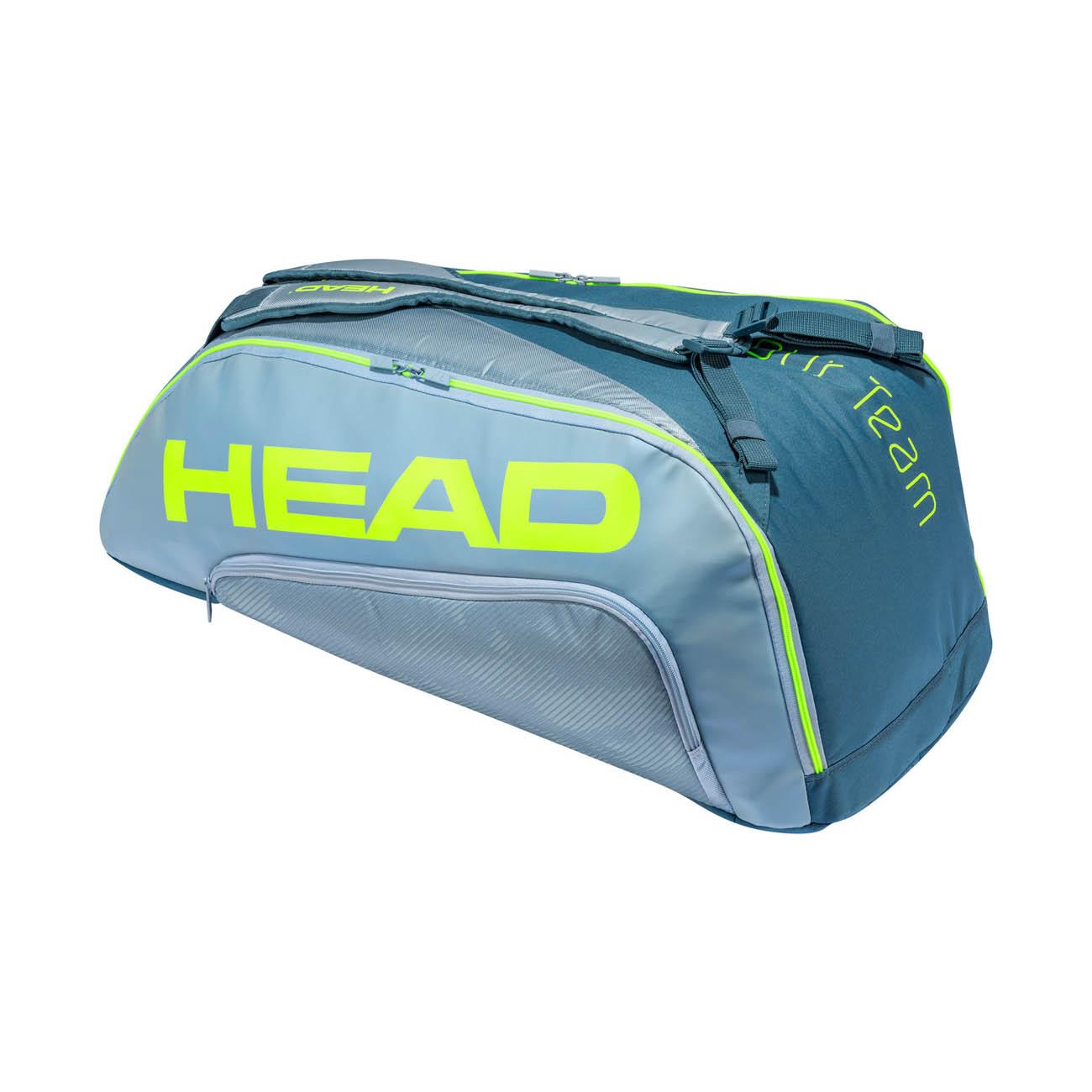 Head Tour Team Extreme Supercombi x 9 Bag - Grey/Neon Yellow