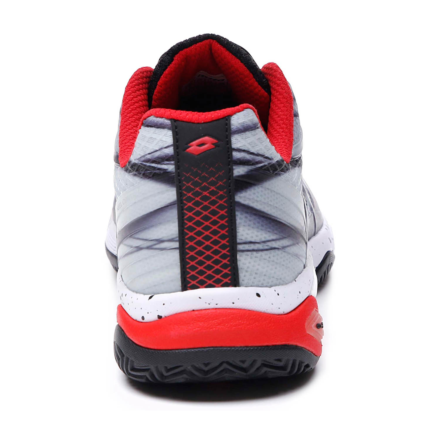Lotto Mirage 300 Clay - All Black/All White/Red Poppy