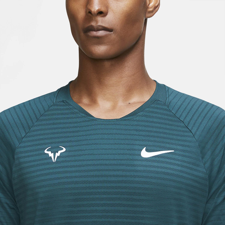 Nike Aeroreact Rafa Slam T-Shirt - Dark Atomic Teal/White