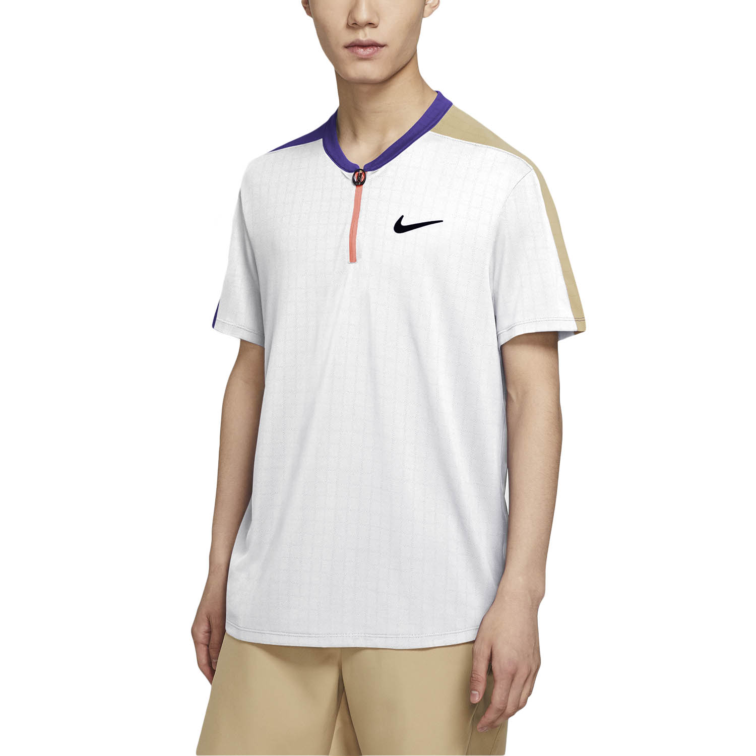 Nike Court Breathe Classic Slam Polo - Wild Berry/Parachute Beige/Black