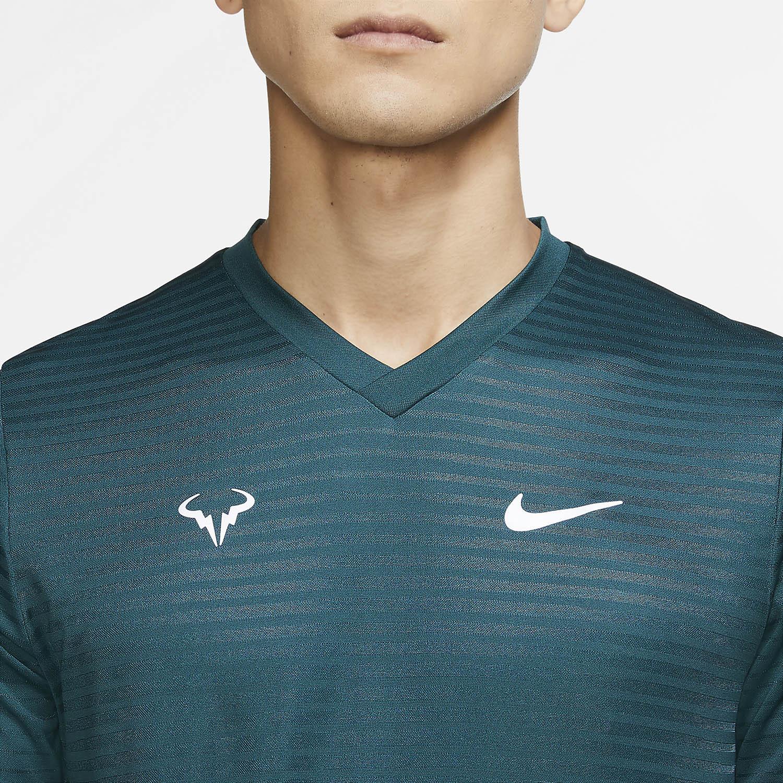Nike Rafa Challenger T-Shirt - Dark Atomic Teal/White
