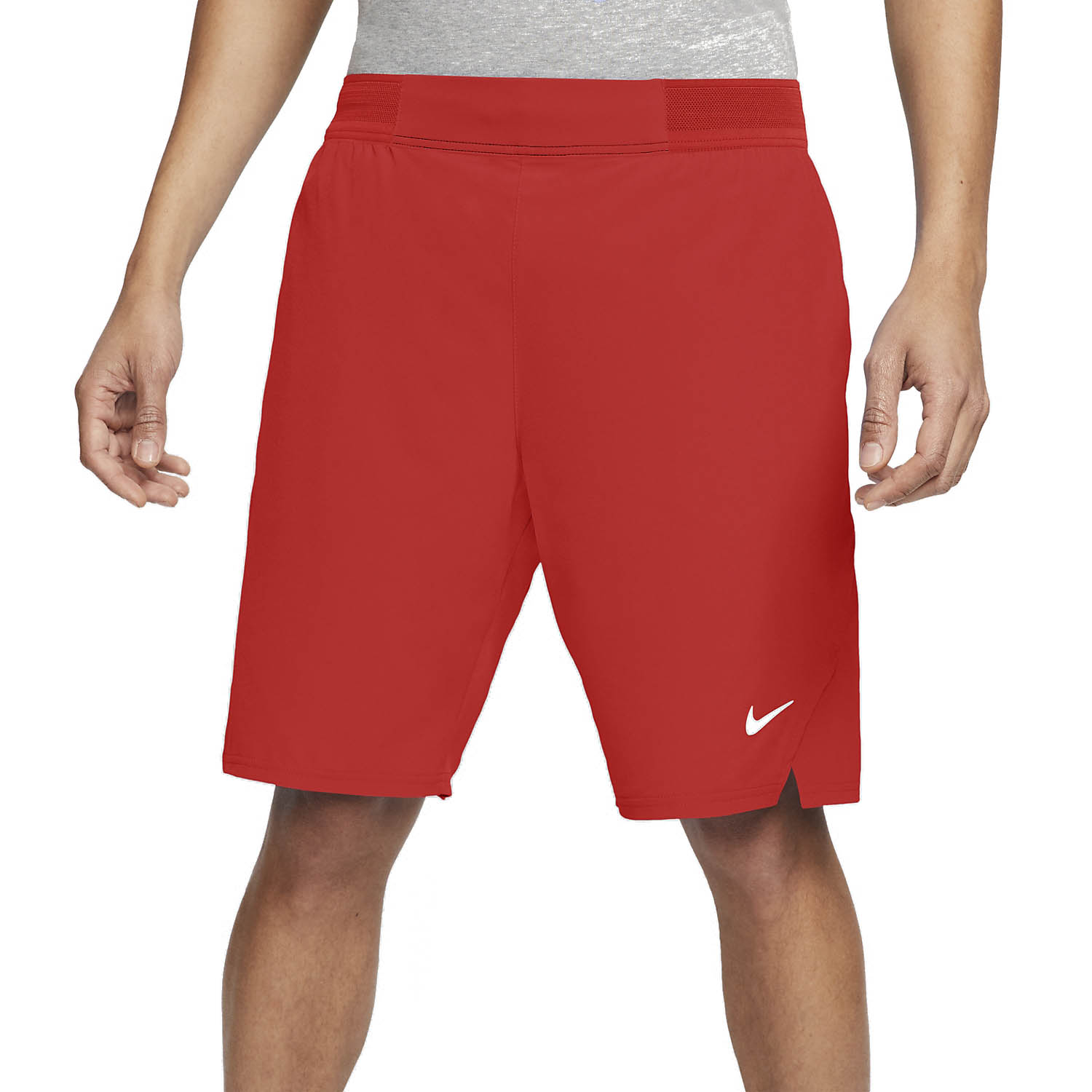 Nike Flex Ace 9in Shorts - Habanero Red/White