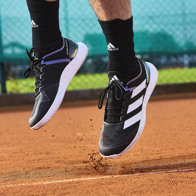 adidas Adizero Ubersonic 4 Clay - Core Black/Ftwr White/Silver Metallic