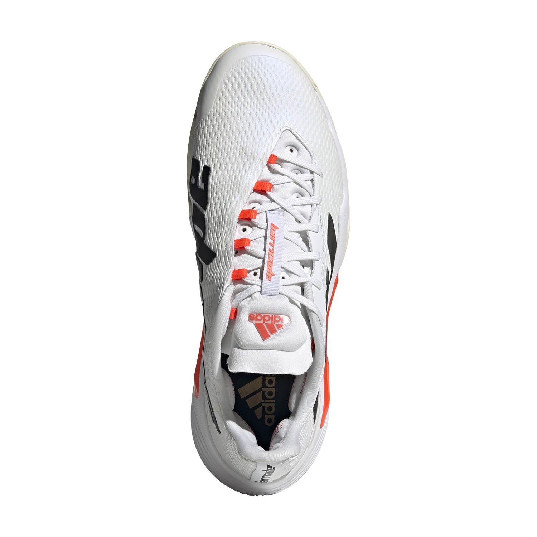 adidas Barricade - Ftwr White/Core Black/Solar Red
