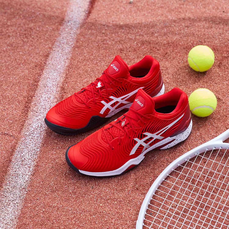 Asics Court FF Novak Clay L.E. - Classic Red/White