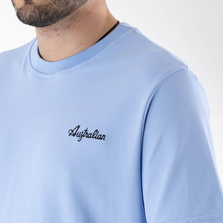 Australian Piquet T-Shirt - Azzurro Pastello