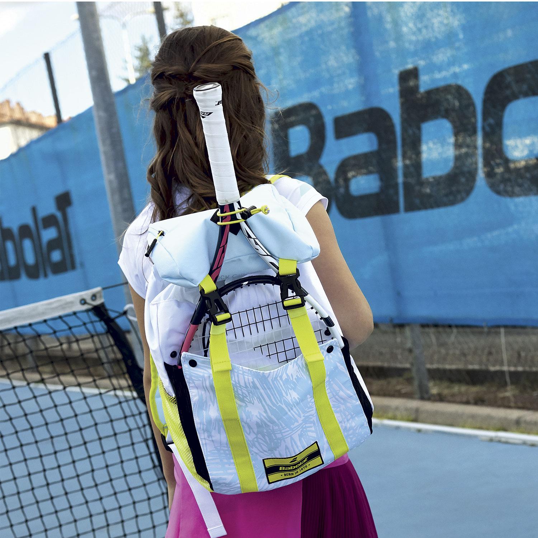 Babolat Classic Backpack Junior - White/Blue