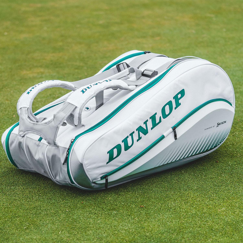 Dunlop Wimbledon SX Performance x 12 Thermo Bag - White/Green