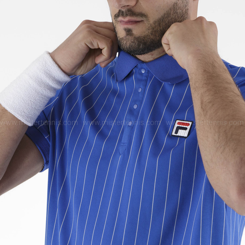 Fila Stripes Polo - Blue Iolite/White
