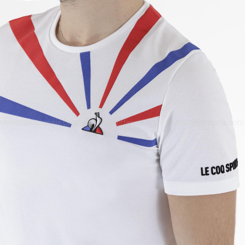 Le Coq Sportif Performance Pro T-Shirt - New Optical White/Cobalt