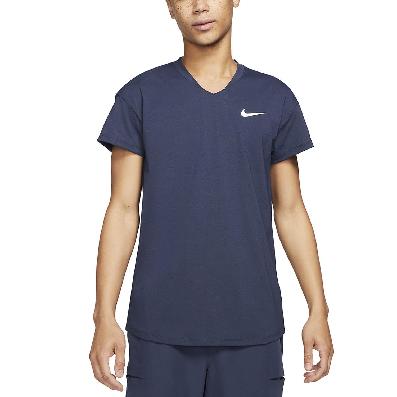 Nike Breathe Slam T-Shirt - Obsidian/White