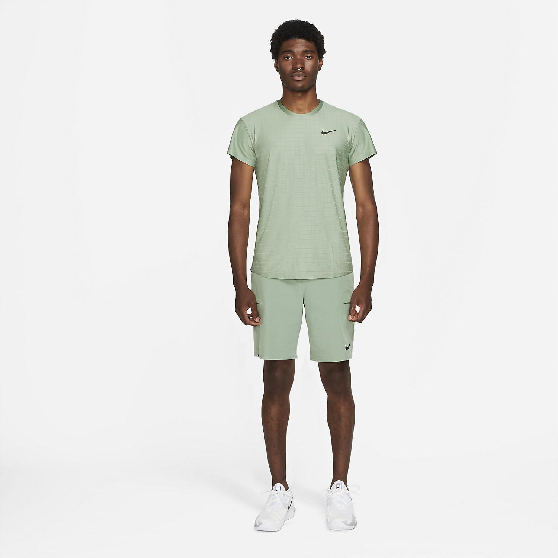 Nike Court Breathe Advantage T-Shirt - Jade Smoke/Black