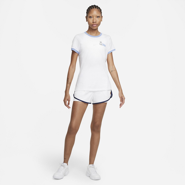 Nike Court Dri-FIT NYC T-Shirt - White/Aluminum