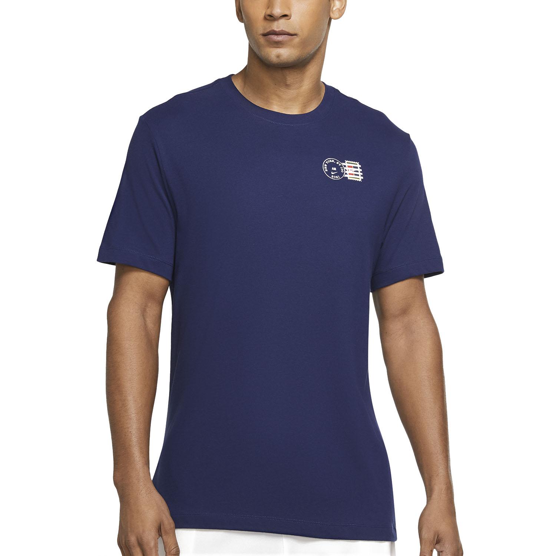 Nike Court Dri-FIT NYC Postcard T-Shirt - Binary Blue