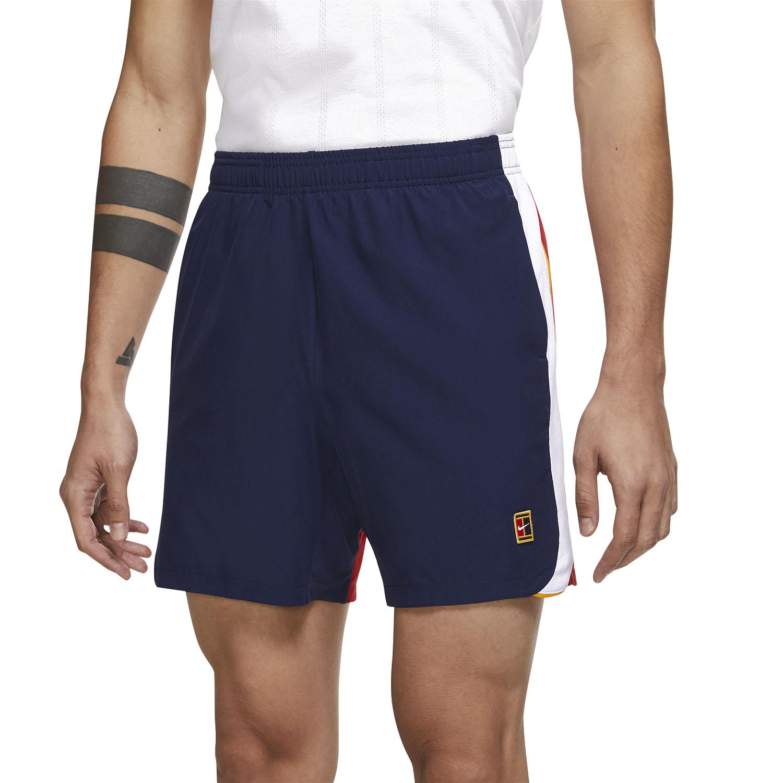 Nike Court Dri-FIT Slam 7in Shorts - Binary Blue/University Red/White